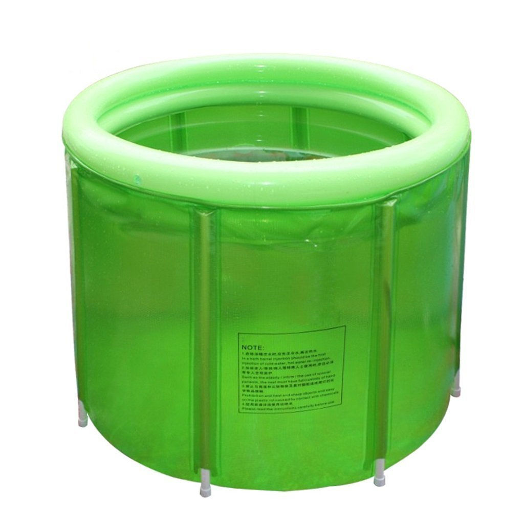 Folding Bathtub Inflatable Pool Bathtub Large Adult Bathtub Collapsible Shower Bathtub Plastic Bathtub Green Simple Fashion 100 * 72cm 560L GAOXINGSHOP