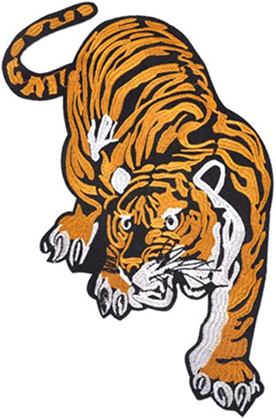 Tiger Deer DIY Embroidered Sew Iron On Badge Patches Clothing Fabric Applique