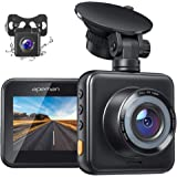APEMAN Dual Dash Cam for Cars Front and Rear with Night Vision 1080P FHD Mini in Car Camera 170° Wide Angle Driving Recorder