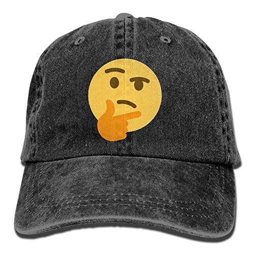 Adjustable Baseball Caps Thinking Emoji Cowboy Style Trucker Cap -