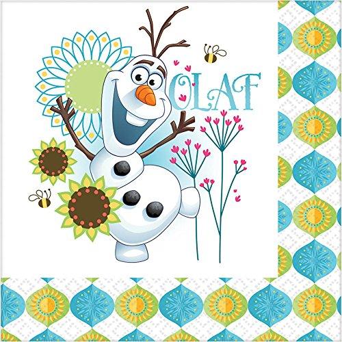 amscan Disney Frozen Fever Anna Elsa Olaf Party Kit for 8]()