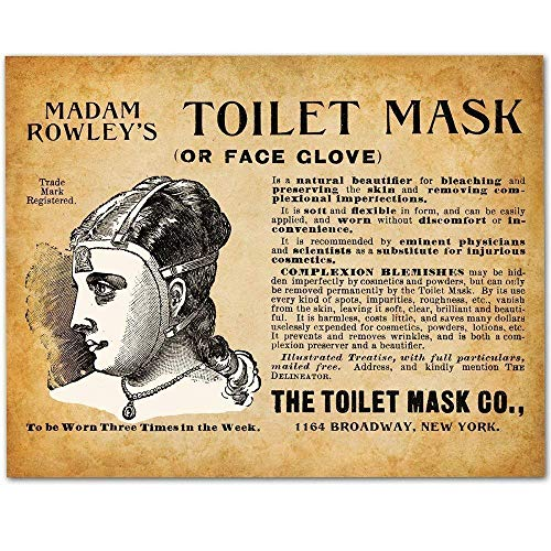 Bizarre Toilet Mask - 11x14 Unframed Vintage Art Print - Makes a Great Gift Under $15 for Bathroom Decor