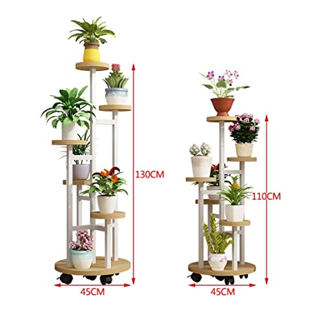 Jardinería Mobile Rack Polea Flower Stand Multi-capa De Cubierta ...