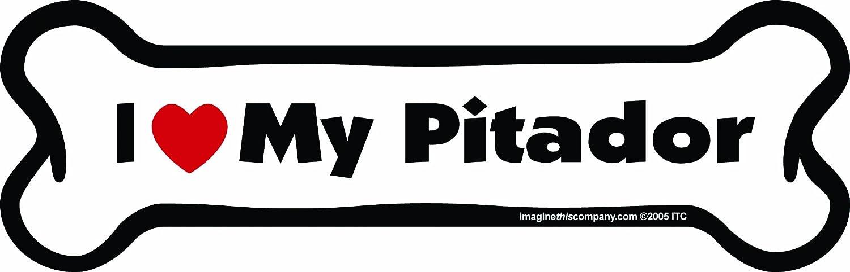 2-Inch by 7-Inch Imagine This Bone Car Magnet I Love My Presa Canario