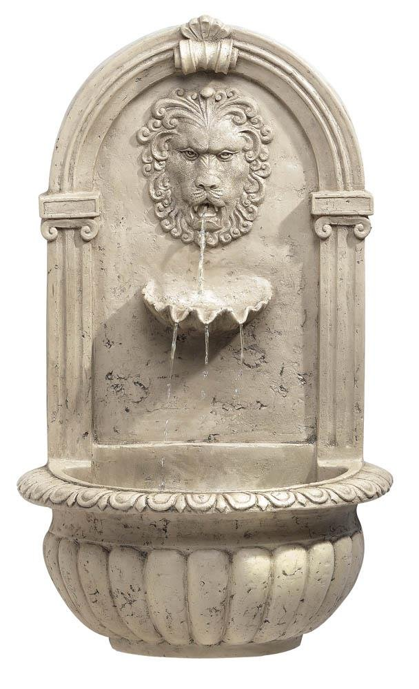 Cascading Fountains 10032428 Decor and More Store Classic Style Lion Head Wall Hanging Garden Fount