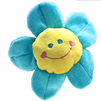 Good Night Juguete de peluche de colores Flores Relleno Con Flexible Tallos, Decoración Interior del