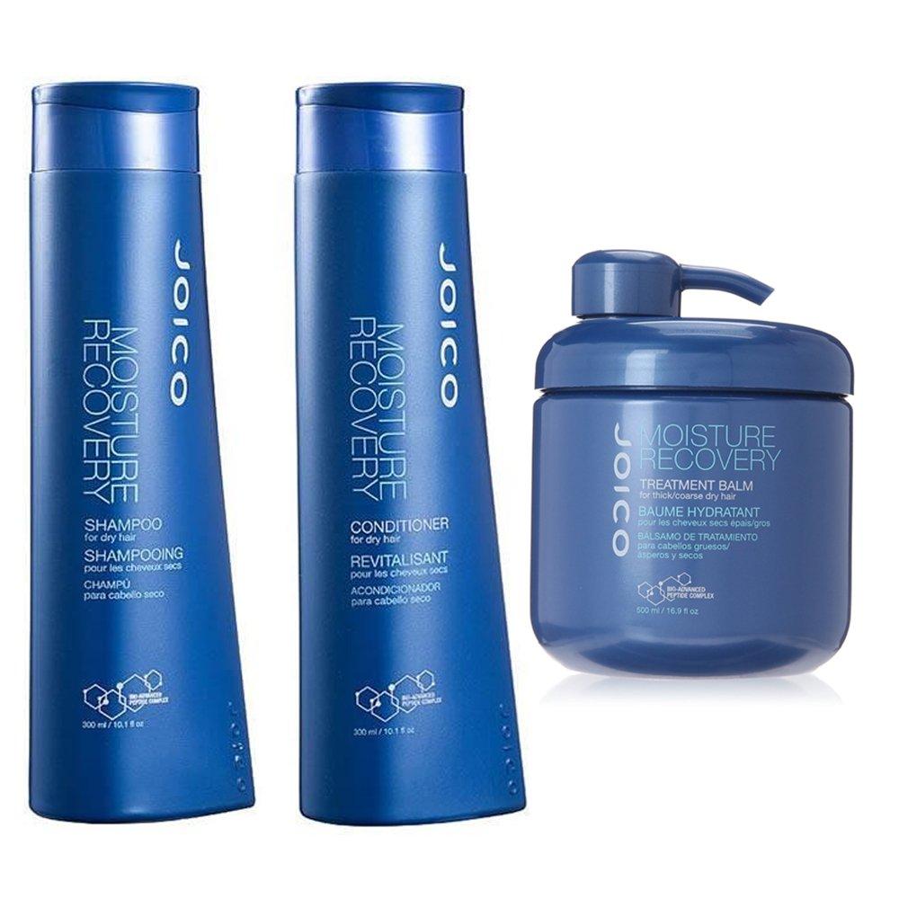 Joico Moisture Recovery Shampoo e Balsamo, 10.1oz & Joico Moisture Recovery Treatment Balm, 16.9oz by Joico