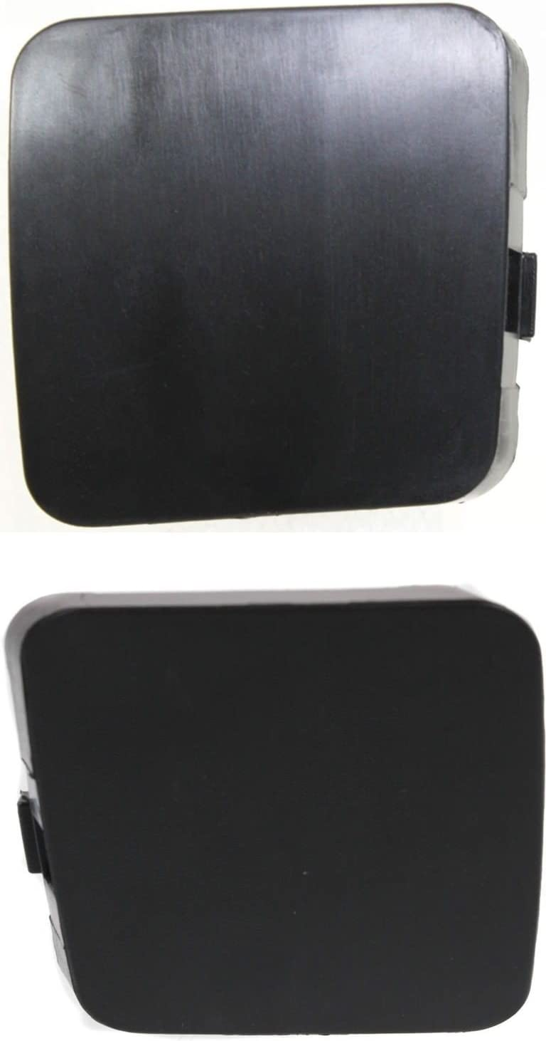 DAT AUTO PARTS Bumper Tow Hook Cover Set of Two Replacement for 09-12 Toyota RAV4 for Limited Models Black Front Left Driver and Right Passenger Side Pair TO1029100 TO1029101