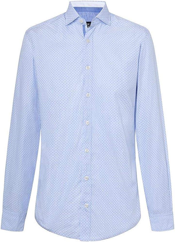 Camisa Hackett Diamante Azul y Blanca Hombre XXL Azul: Amazon ...