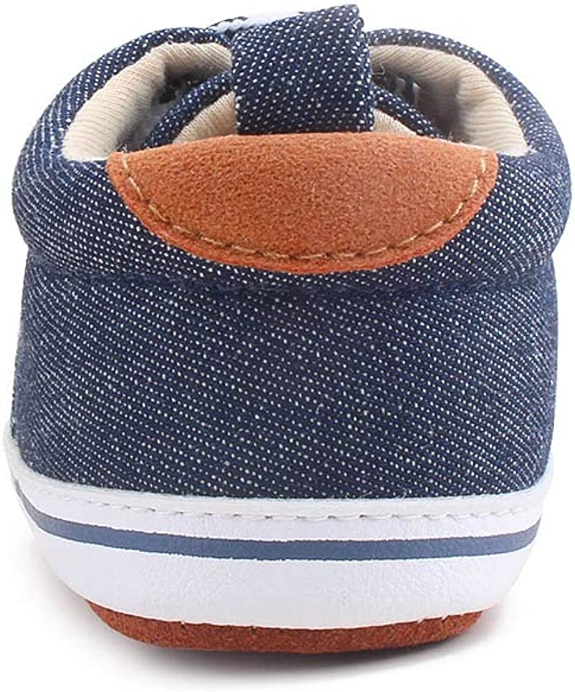 OOSAKU Lace up Toddler Sneaker Baby Infant Shoes Boy Girl First Walking
