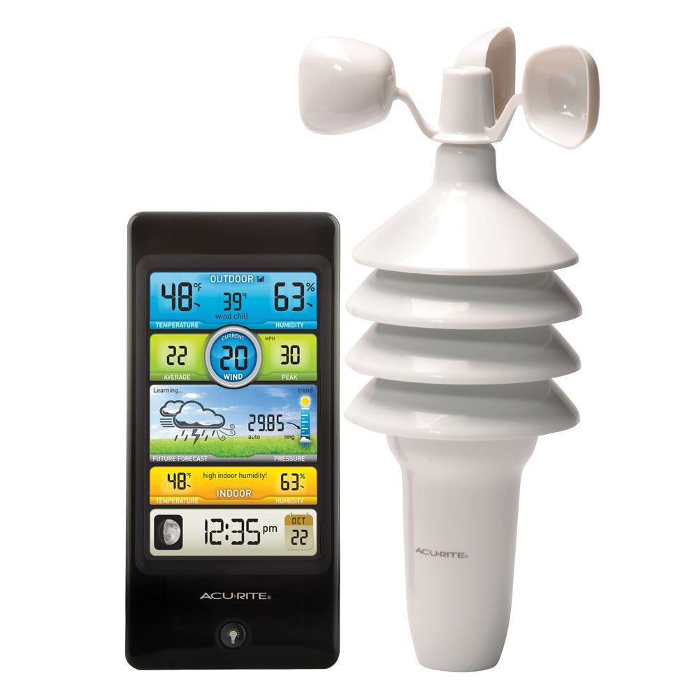 AcuRite 01604M Pro Color Digital Weather Station with Wind Speed, Temperature and Humidity