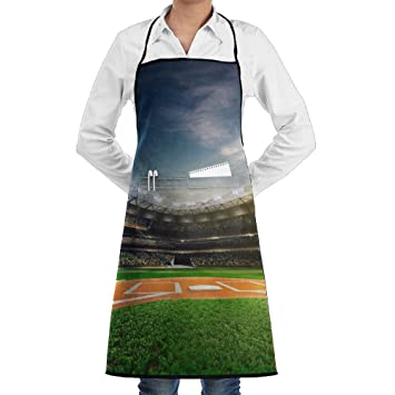 Amazon.com  UTYDHG Football Field Bib Apron With Pockets For Women ... 14f96832b4