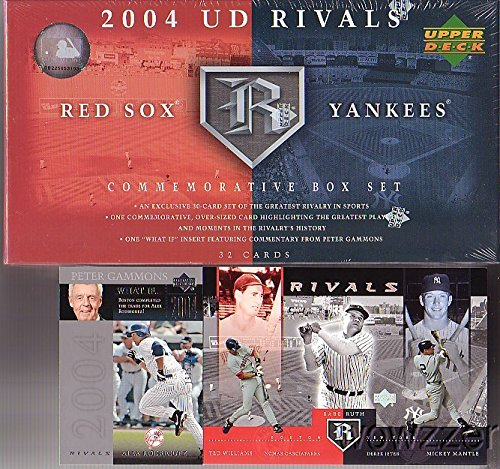 2004 Upper Deck Rivals Yankess vs Red Sox Factory Sealed Box Set! Amazing Set includes Cards of Mickey Mantle,Babe Ruth, Ted Williams,Joe Dimaggio,Derek Jeter,Lou Gehrig & Many More! ()