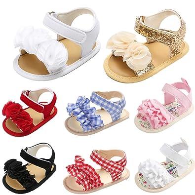 Amazon.com: Isbasic - Sandalias de bebé para niñas con ...