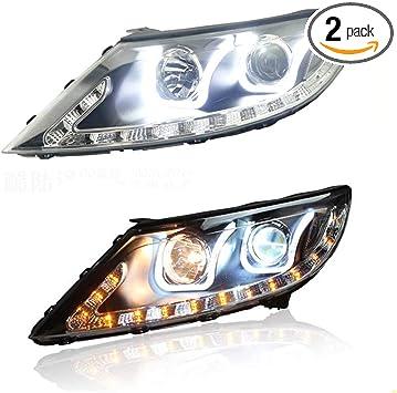 Left /& Right LED DRL Daytime Running Light Fog Lamp For Hyundai Elantra 14-16 US
