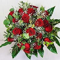Ramo de 18 Rosas Rojas Naturales - Entrega EN 24 Horas -Flores Frescas a Domicilio - DEDICATORIA incluida