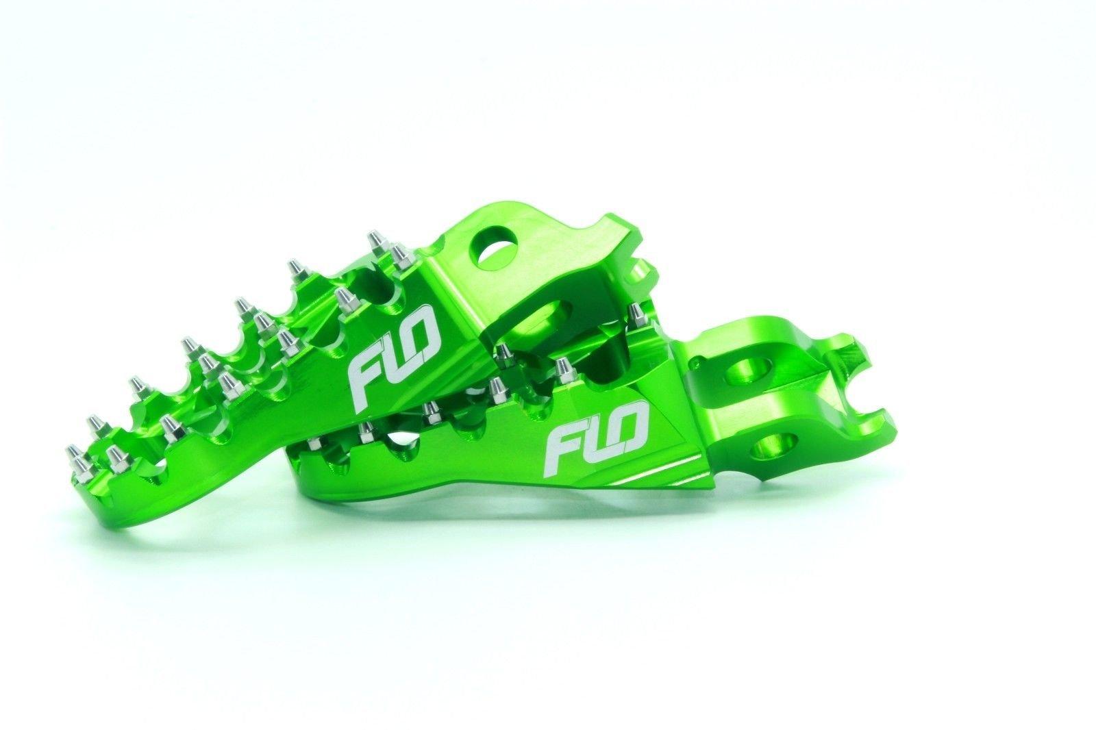 Flo Motorsports Green Kawasaki KXF250/450 Foot Pegs Fpeg-792Grn by Flo Motorsports (Image #4)