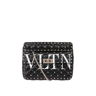 Valentino Garavani Women's PW0B0122XQCNER Black Leather Shoulder Bag