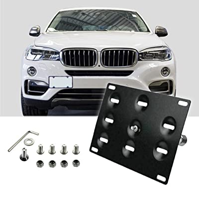 Fudoray Front Bumper Tow Hook License Plate Mount Holder Frame Bracket Mounting for BMW F30 F31 F10 F07 F11 F15 F16 F22 F25 F26 F32 F33 F36 525i 328i 528i 320i 428i 330i: Automotive