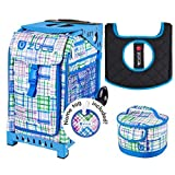 Zuca Sport Bag - Berry Patch with Gift Lunchbox and Seat Cover (Blue Frame)