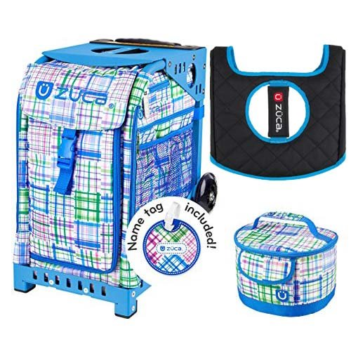 Zuca Sport Bag - Berry Patch with Gift Lunchbox and Seat Cover (Blue Frame) by ZUCA