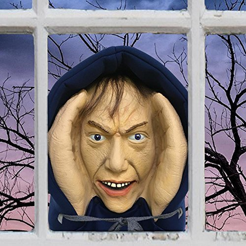 Scary Peeper Creeper Peeping Tom Halloween Window Decoration Looks Real]()