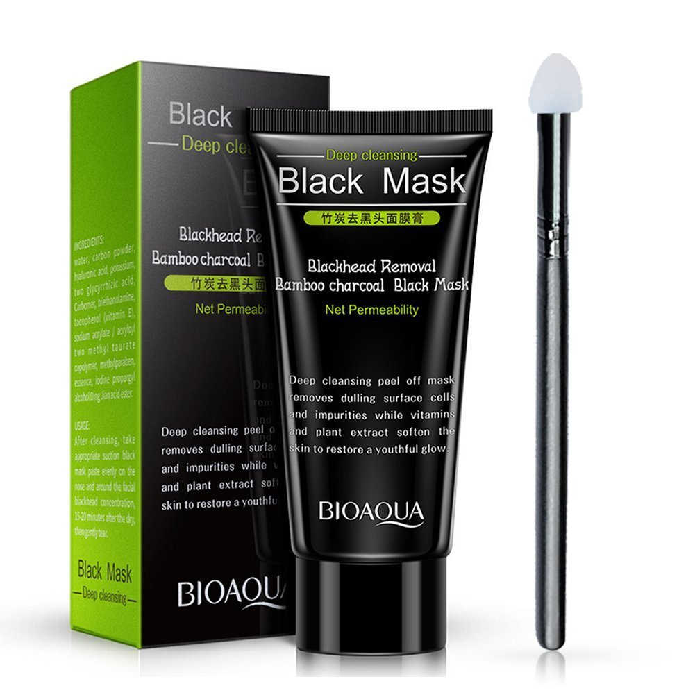 Blackhead Face Mask, Molie Charcoal Peel Off Mask Deep Cleansing Tearing Resist Oily Skin Strawberry Nose Paste T Zone Treatment Skin Care 60g
