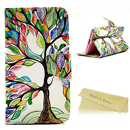 Note 3 Case , Galaxy Note 3 Case - Mavis's Diary PU Leather Flip Protective Case Cover with Stand Card Holder Slot Illustration Series Wallet Cover with Buckle Holster Protective Bumper Cover Colored Trees Patterns Case for Samsung Galaxy Note 3