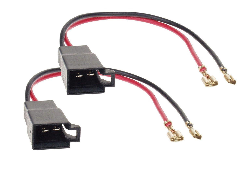 2x Conectores adaptadores para altavoces de Seat Leon Toledo