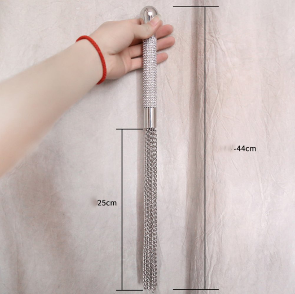 LSS BDSM juguetes sexuales productos para adultos látigo de mango de látigo diamantes cadena cuero látigo peso cadena e604d8
