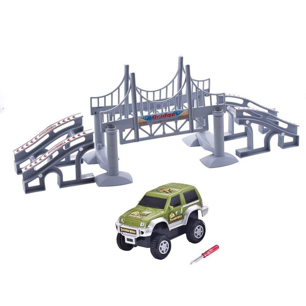 QUOXO サスペンションブリッジ おもちゃの車 マジックトラックアクセサリー B07GQSN4QJ