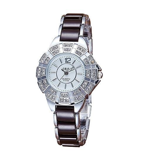 Reloj, poto 2017 nueva mujeres SBAO impermeable moda diamante de gama alta pulsera relojes: Amazon.es: Relojes