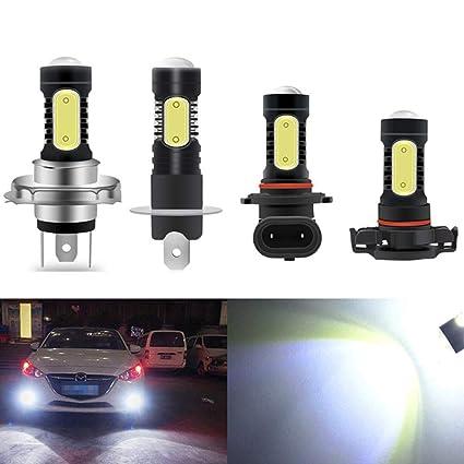 Amazon.com: Coche H27 880 LED 881 H16 5202 LED H1 H3 LED H4 ...