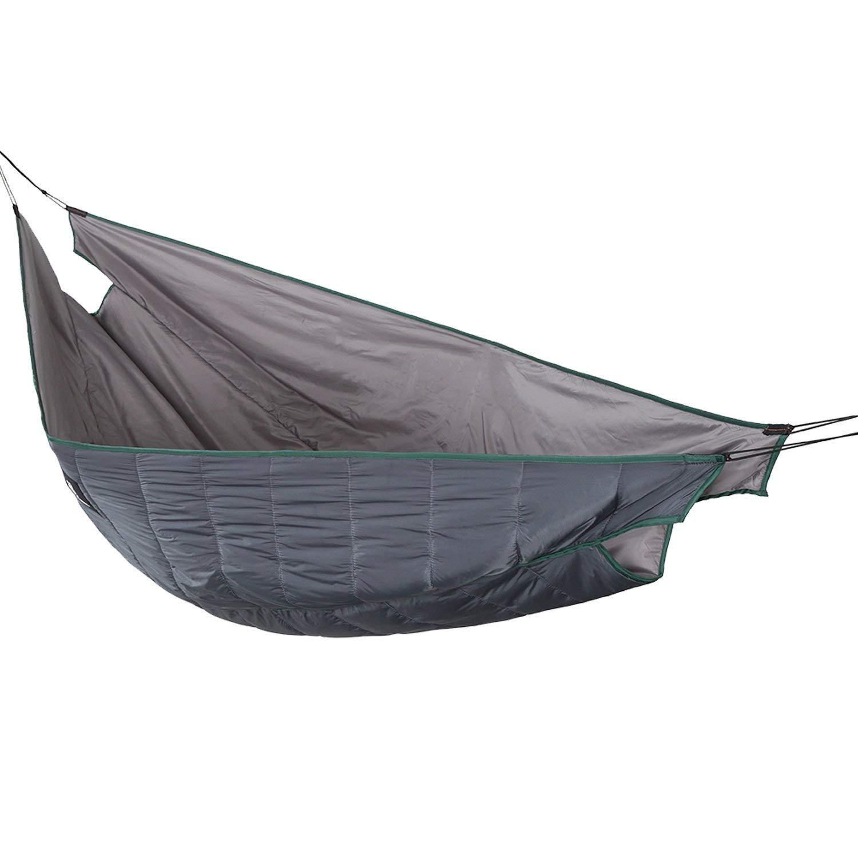 1T Hamaca edredón, ligero, acolchado para camping, plegable, longitud completa bajo manta, Shadow Grey - Double Version: Amazon.es: Deportes y aire libre