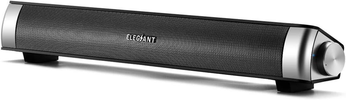 ELEGIANT USB サウンドバー ステレオ有線給電