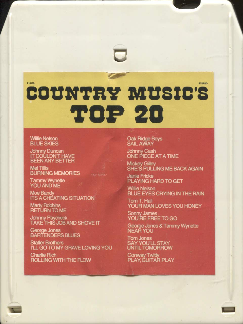 Country Top 20 >> Amazon Com Country Music S Top 20 9482 8 Track Tape