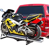 """Hitch Mounted Sport Bike & Motorcycle Carrier with a 600 lb. Capacity and 72"""" Loading Ramp"""