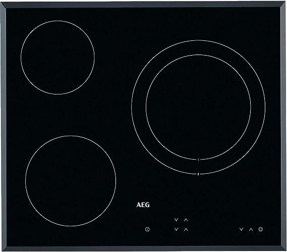 AEG HK623021FB Placa vitrocerámica, Biselada, 3 zonas de cocción, Panel de control táctil independiente, Negro, 60 cm: 182.84: Amazon.es: Grandes electrodomésticos