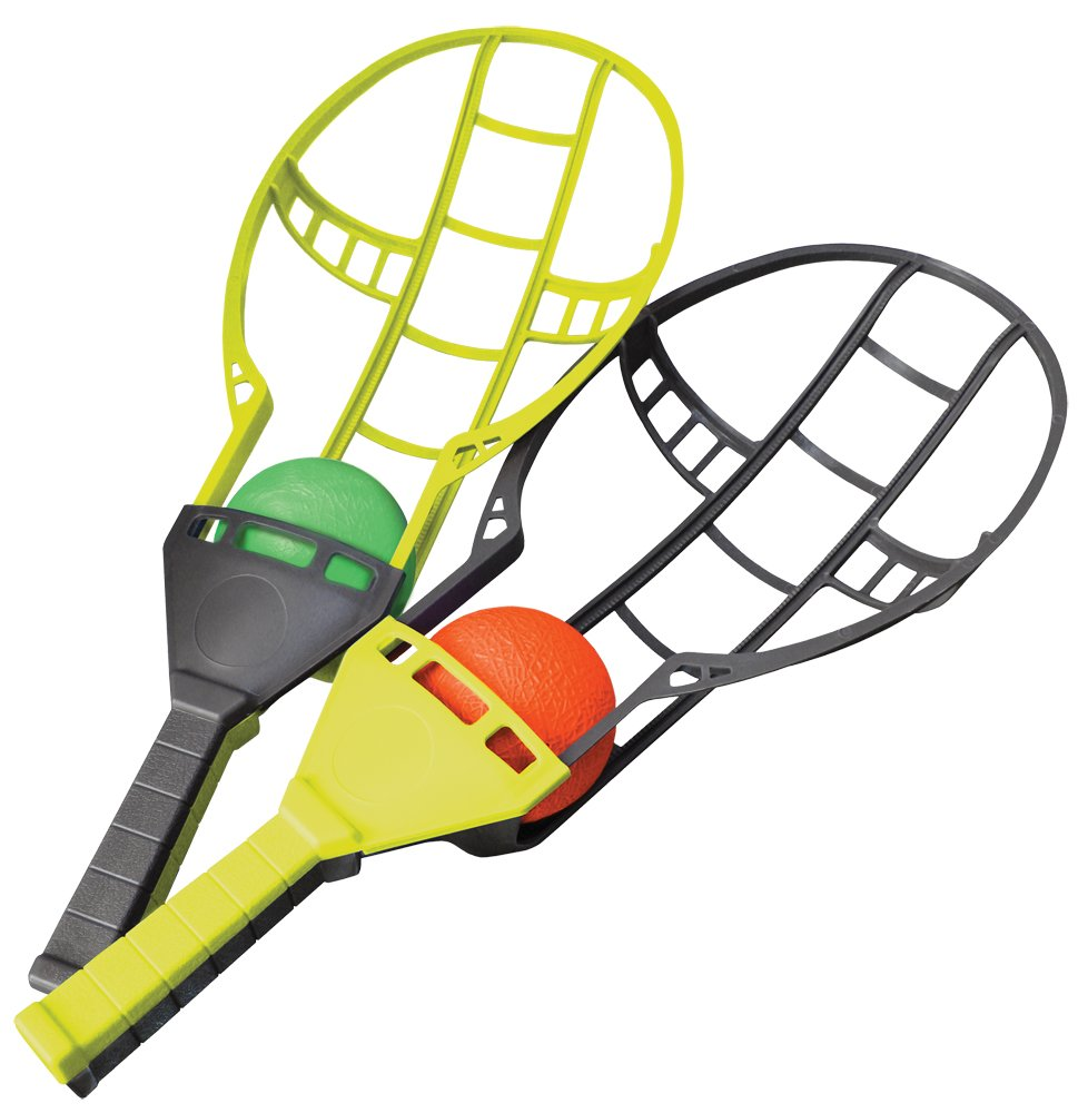 amazon com wham o trac ball racket toy game lawn game