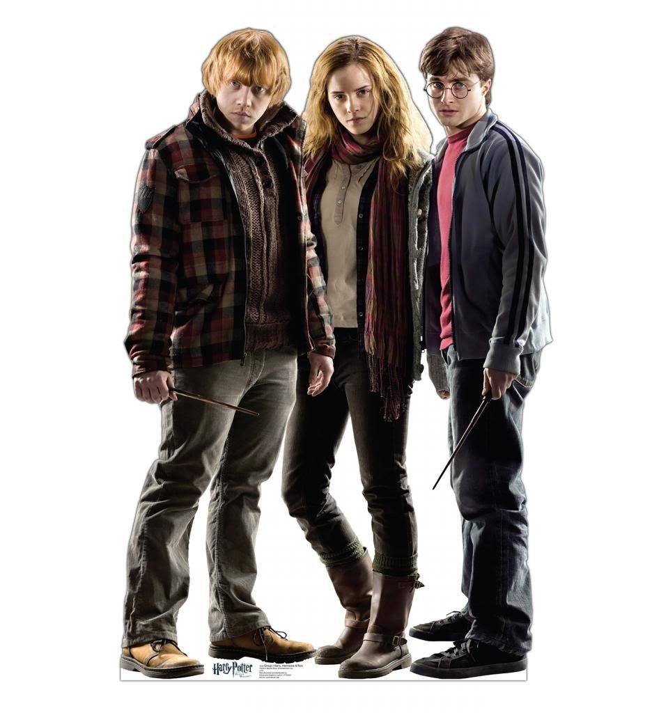 Harry, Hermione & Ron - Harry Potter and the Deathly Hallows - Advanced Graphics Life Size Cardboard Standup