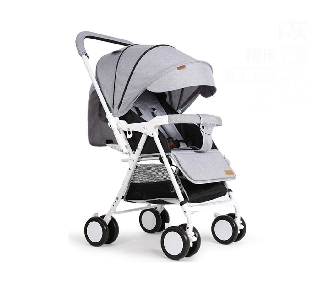 灰色の赤ちゃんトロリーポータブルフォールド傘車の子供たちのアウトドアアクティビティサンシャイン車ショックプルーフ四季の旅行必要な四輪車   B07Q1PB6VD