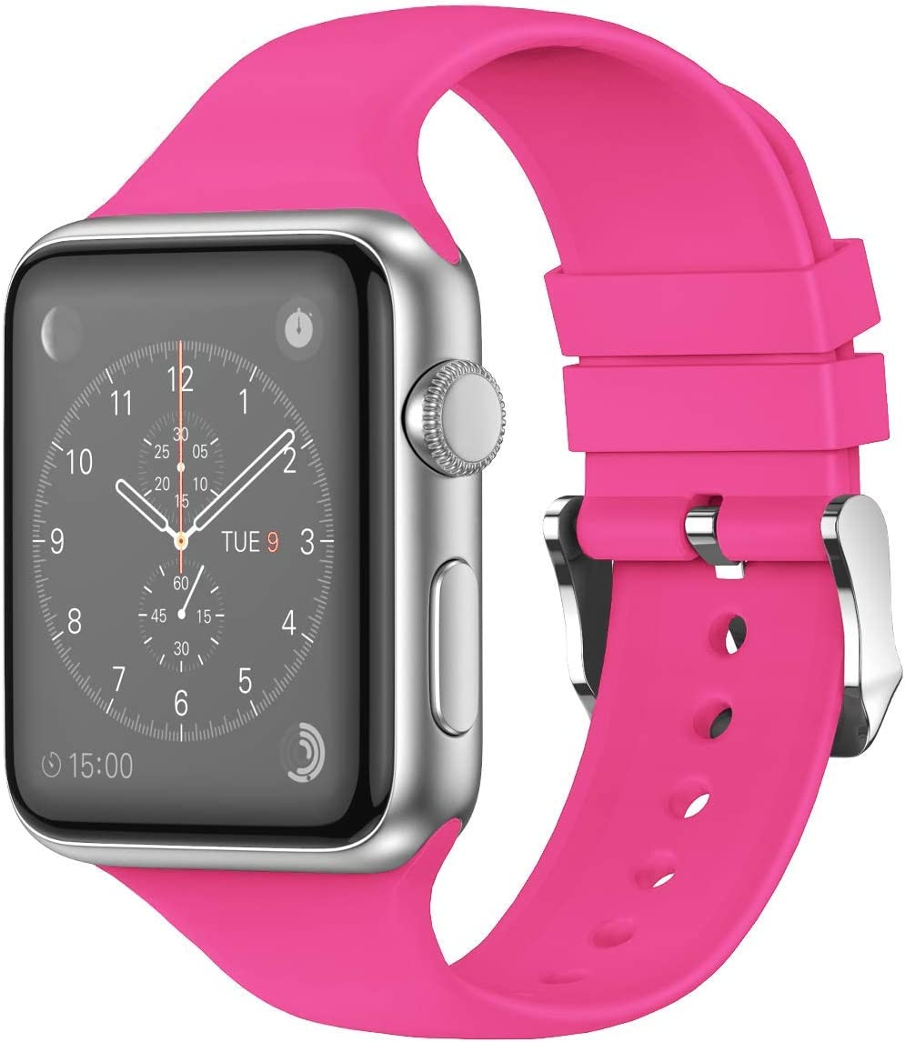THWALK Sport Band Compatible with Apple Watch 38/40mm 42/44mm for Men/Women Waterproof Bands Replacement Strap Accessories for iWatch Apple Watch SE Series 6/5/4/3/2/1 (38/40mm, Barbie Pink)