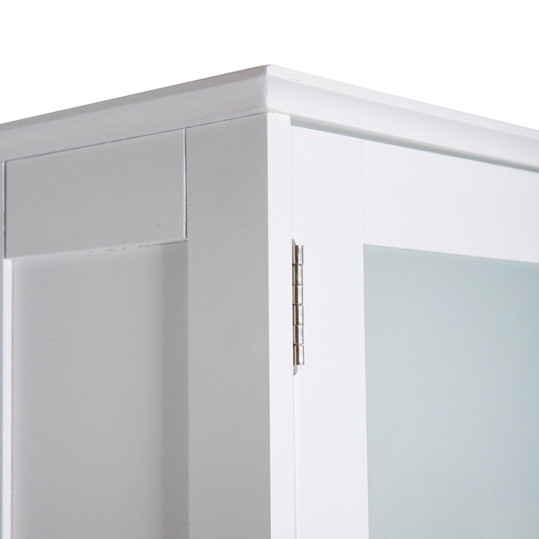 Kinbor 3 Shelf Over The Toilet Bathroom Space Saver, Cottage Collection Bathroom Spacesaver, White by Kinbor (Image #8)