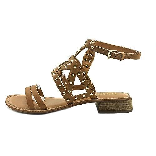 Franco Sarto Womens Apollo Leather Open Toe Casual Tan Leather Size 110