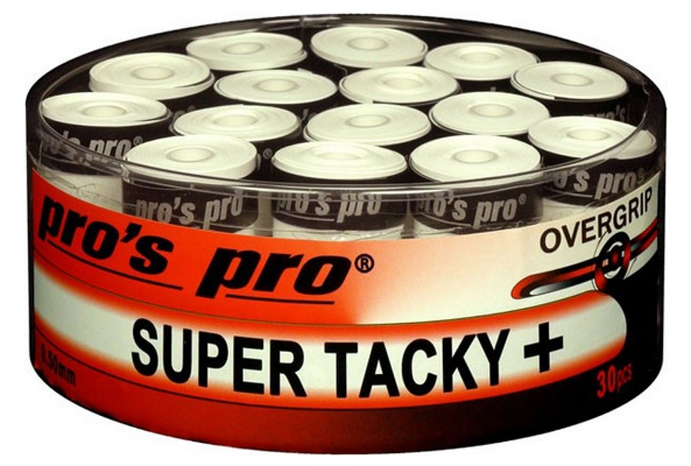 30 Overgrip Super Tacky Tape Tape tennis grips bianco Pros Pro G0273b