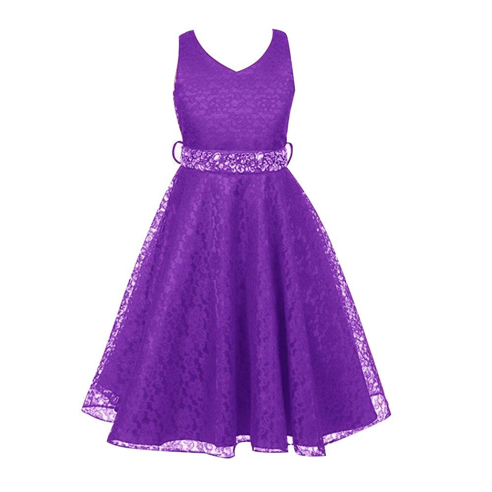 Free Fisher - Niñas Vestidos de Princesa Boda Fiesta Vestidos ...