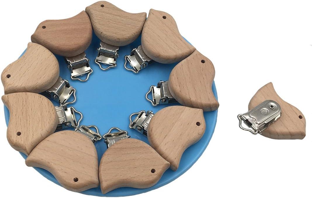 Schnullerkette mit Holzperlen Love Lyguy-Schnullerkette Schnullerkette