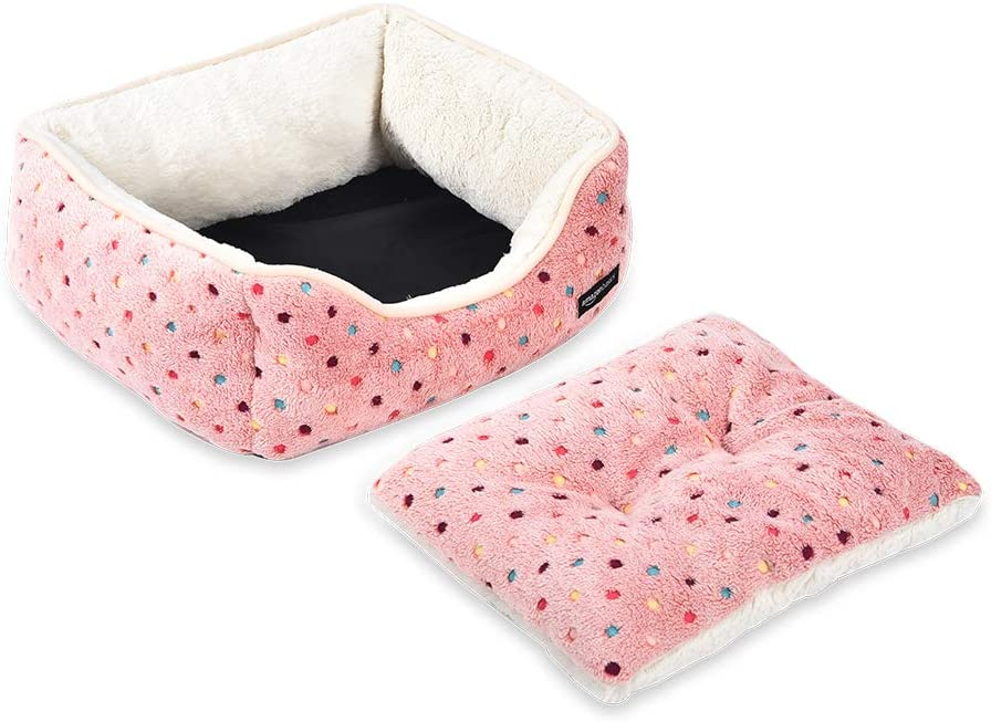 Small Basics Cuddler Pet Bed Pink Polka Dots