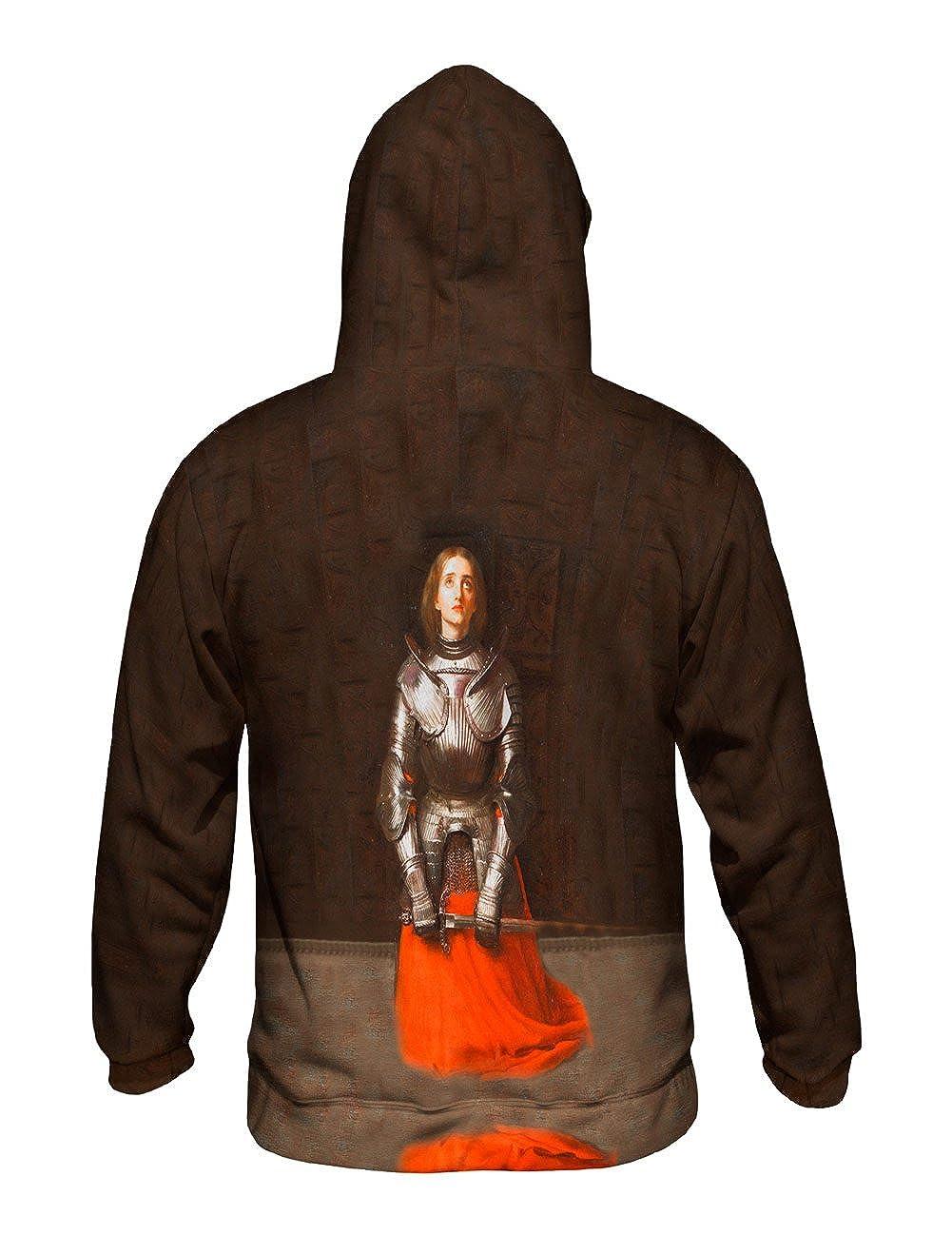 Joan of Arc Mens Hoodie 1865 -Allover Print Yizzam- John Everett Millais