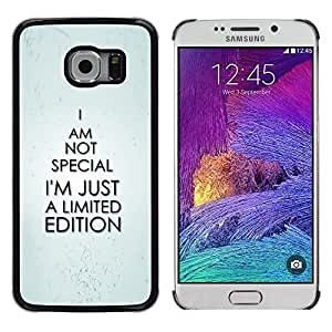 Impact Case Cover with Art Pattern Designs FOR Samsung Galaxy S6 EDGE Special Unique Exclusive Funny Quote Betty shop